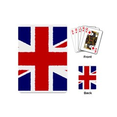 Union Jack Watercolor Drawing Art Playing Cards (mini)  by picsaspassion
