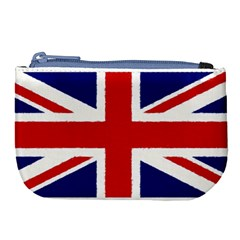 Union Jack Watercolor Drawing Art Large Coin Purse