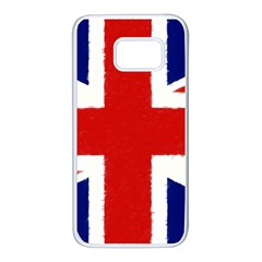 Union Jack Watercolor Drawing Art Samsung Galaxy S7 White Seamless Case