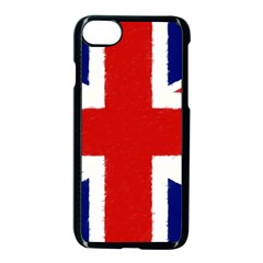 Union Jack Watercolor Drawing Art Apple Iphone 8 Seamless Case (black) by picsaspassion