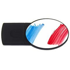France Flag, Banner Watercolor Painting Art Usb Flash Drive Oval (2 Gb) by picsaspassion