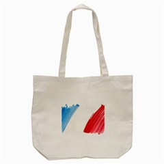 France Flag, Banner Watercolor Painting Art Tote Bag (cream)