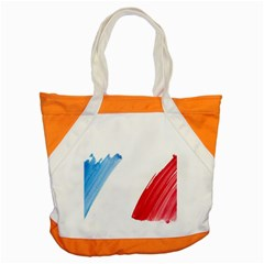 France Flag, Banner Watercolor Painting Art Accent Tote Bag by picsaspassion