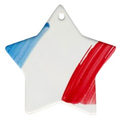 France Flag, Banner Watercolor Painting Art Star Ornament (two Sides)