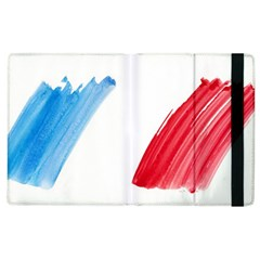 France Flag, Banner Watercolor Painting Art Apple Ipad 2 Flip Case by picsaspassion