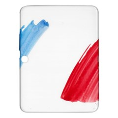 France Flag, Banner Watercolor Painting Art Samsung Galaxy Tab 3 (10 1 ) P5200 Hardshell Case  by picsaspassion