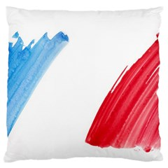 France Flag, Banner Watercolor Painting Art Large Flano Cushion Case (two Sides) by picsaspassion