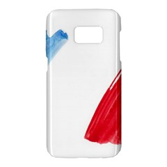 France Flag, Banner Watercolor Painting Art Samsung Galaxy S7 Hardshell Case