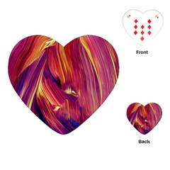 Abstract Acryl Art Playing Cards (heart)  by tarastyle
