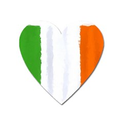 Flag Ireland, Banner Watercolor Painting Art Heart Magnet by picsaspassion
