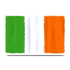 Flag Ireland, Banner Watercolor Painting Art Plate Mats by picsaspassion