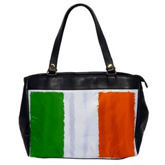 Flag Ireland, Banner Watercolor Painting Art Office Handbags by picsaspassion