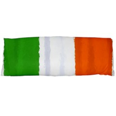 Flag Ireland, Banner Watercolor Painting Art Body Pillow Case (dakimakura) by picsaspassion