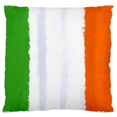 Flag Ireland, Banner Watercolor Painting Art Large Cushion Case (one Side) by picsaspassion