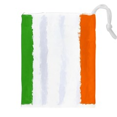 Flag Ireland, Banner Watercolor Painting Art Drawstring Pouches (xxl)