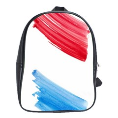 Tricolor Banner Watercolor Painting Art School Bag (large) by picsaspassion