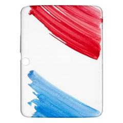 Tricolor Banner Watercolor Painting Art Samsung Galaxy Tab 3 (10 1 ) P5200 Hardshell Case  by picsaspassion