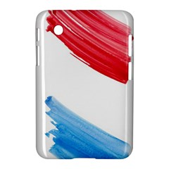 Tricolor Banner Watercolor Painting Art Samsung Galaxy Tab 2 (7 ) P3100 Hardshell Case  by picsaspassion
