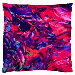 Abstract Acryl Art Large Flano Cushion Case (one Side) by tarastyle