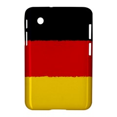 German Flag, Banner Deutschland, Watercolor Painting Art Samsung Galaxy Tab 2 (7 ) P3100 Hardshell Case  by picsaspassion