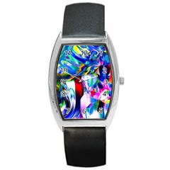 Abstract Acryl Art Barrel Style Metal Watch by tarastyle
