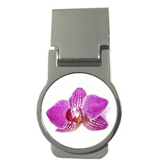 Lilac Phalaenopsis Aquarel  Watercolor Art Painting Money Clips (round)  by picsaspassion