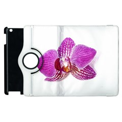 Lilac Phalaenopsis Aquarel  Watercolor Art Painting Apple Ipad 2 Flip 360 Case by picsaspassion
