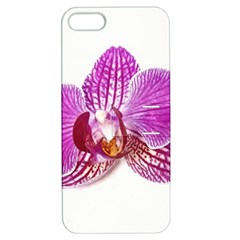 Lilac Phalaenopsis Aquarel  Watercolor Art Painting Apple Iphone 5 Hardshell Case With Stand