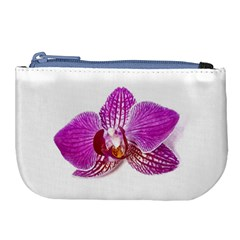 Lilac Phalaenopsis Aquarel  Watercolor Art Painting Large Coin Purse by picsaspassion