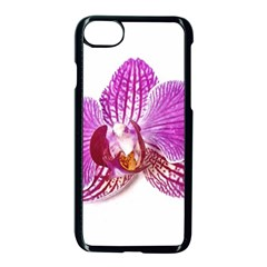 Lilac Phalaenopsis Aquarel  Watercolor Art Painting Apple Iphone 8 Seamless Case (black) by picsaspassion