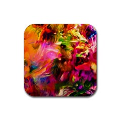 Abstract Acryl Art Rubber Square Coaster (4 Pack)  by tarastyle