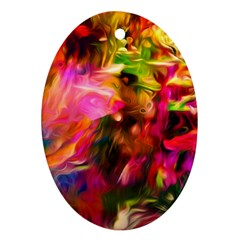 Abstract Acryl Art Oval Ornament (two Sides) by tarastyle