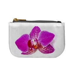 Lilac Phalaenopsis Flower, Floral Oil Painting Art Mini Coin Purses by picsaspassion