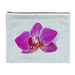 Lilac Phalaenopsis Flower, Floral Oil Painting Art Cosmetic Bag (xl) by picsaspassion