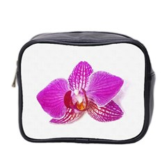 Lilac Phalaenopsis Flower, Floral Oil Painting Art Mini Toiletries Bag 2 Side by picsaspassion