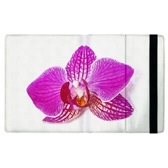 Lilac Phalaenopsis Flower, Floral Oil Painting Art Apple Ipad 2 Flip Case by picsaspassion