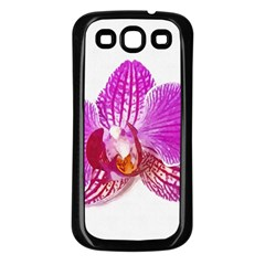 Lilac Phalaenopsis Flower, Floral Oil Painting Art Samsung Galaxy S3 Back Case (black) by picsaspassion