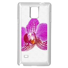 Lilac Phalaenopsis Flower, Floral Oil Painting Art Samsung Galaxy Note 4 Case (white) by picsaspassion