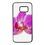 Lilac Phalaenopsis flower, Floral Oil painting art Samsung Galaxy S7 Black Seamless Case Front