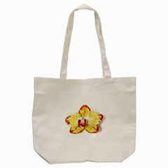 Yellow Phalaenopsis Flower, Floral Aquarel Watercolor Painting Art Tote Bag (cream)