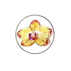 Yellow Phalaenopsis Flower, Floral Aquarel Watercolor Painting Art Hat Clip Ball Marker (10 Pack) by picsaspassion