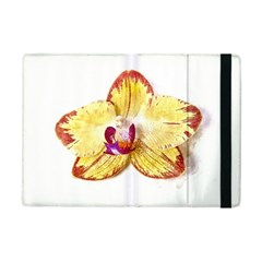 Yellow Phalaenopsis Flower, Floral Aquarel Watercolor Painting Art Ipad Mini 2 Flip Cases by picsaspassion