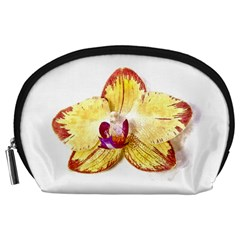 Yellow Phalaenopsis Flower, Floral Aquarel Watercolor Painting Art Accessory Pouches (large)