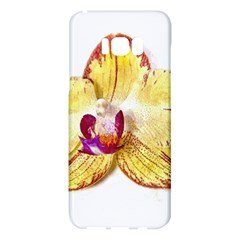 Yellow Phalaenopsis Flower, Floral Aquarel Watercolor Painting Art Samsung Galaxy S8 Plus Hardshell Case  by picsaspassion