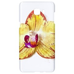 Yellow Phalaenopsis Flower, Floral Aquarel Watercolor Painting Art Samsung C9 Pro Hardshell Case  by picsaspassion