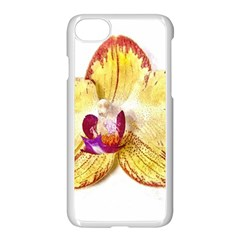 Yellow Phalaenopsis Flower, Floral Aquarel Watercolor Painting Art Apple Iphone 8 Seamless Case (white)