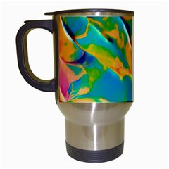 Abstract Acryl Art Travel Mugs (white) by tarastyle
