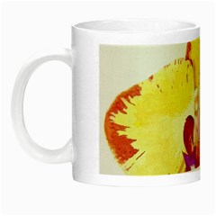 Phalaenopsis Yellow Flower, Floral Oil Painting Art Night Luminous Mugs by picsaspassion