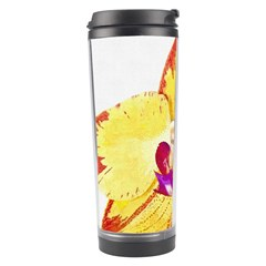 Phalaenopsis Yellow Flower, Floral Oil Painting Art Travel Tumbler by picsaspassion