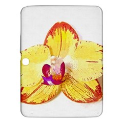 Phalaenopsis Yellow Flower, Floral Oil Painting Art Samsung Galaxy Tab 3 (10 1 ) P5200 Hardshell Case  by picsaspassion